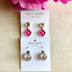 KATE SPADE Crystal Earring LOT OF TWO